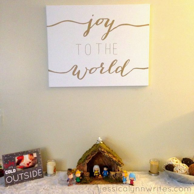 diy christmas canvas art jessica lynn writes