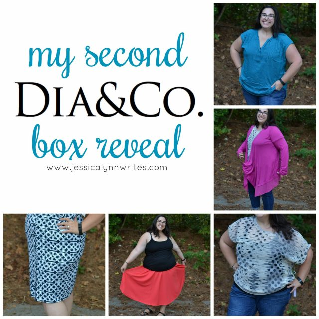 Five items of clothes shipped straight to your door! Here's my latest Dia&Co reveal. Gotta love a company that caters to women who wear a size 10 and up!