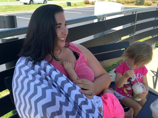 The Itzy Ritzy nursing scarf is fashionable to wear every day, and convenient and comfortable enough to wear while breastfeeding your baby. Win/win!