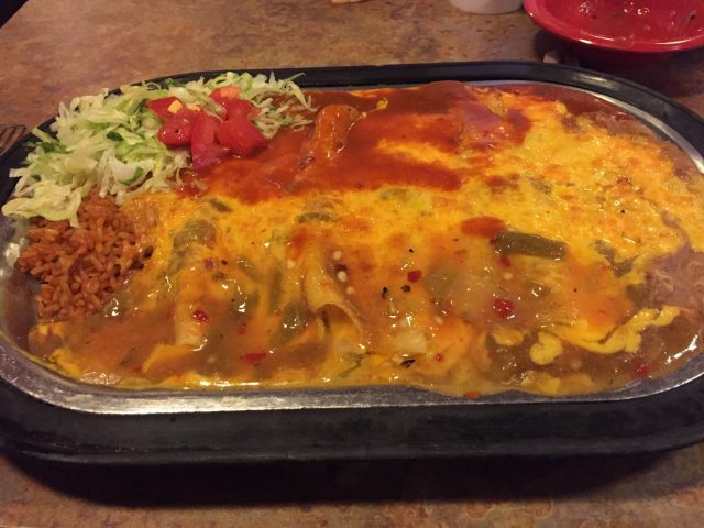 La Salita cheese enchiladas with Christmas