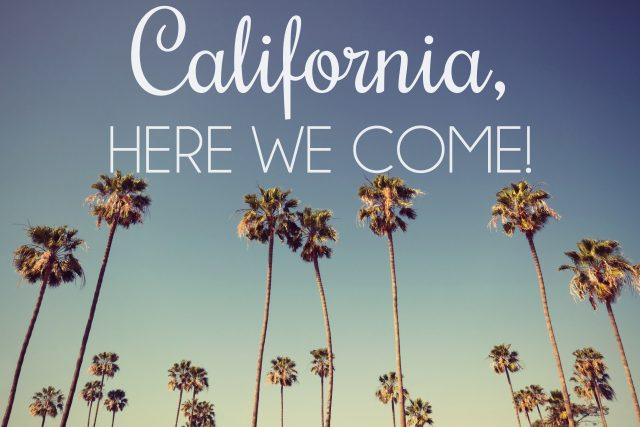 Moving to California this summer!